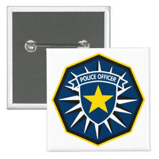 Estrella del oficial de policía pin cuadrada 5 cm