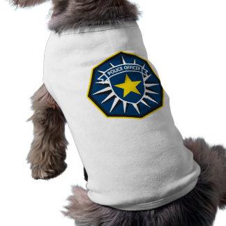 Estrella del oficial de policía camisetas mascota
