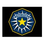 Estrella del oficial de policía tarjeta postal