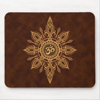 Estrella del ohmio (marrón de oro) tapetes de ratones