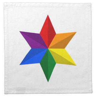 Estrella del orgullo gay servilleta de papel