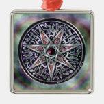Estrella del ornamento cuadrado superior vidente ornamente de reyes