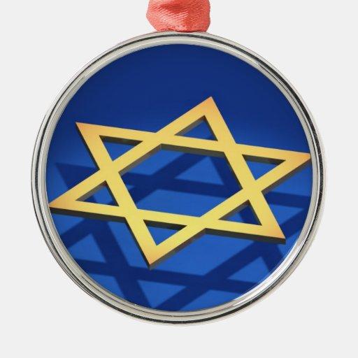 Estrella del ornamento de David Adornos De Navidad