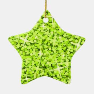 Estrella del ornamento de la cal del Glitz Ornamento Para Arbol De Navidad