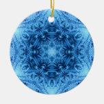 Estrella del ornamento del copo de nieve de David Ornamento De Reyes Magos