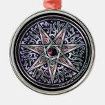 Estrella del ornamento redondo superior vidente ornamentos de reyes