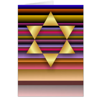 Estrella del oro de la tarjeta de David