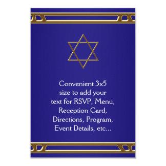 Estrella del oro de los azules marinos de David Comunicados Personalizados