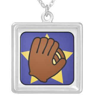 Estrella del oro del guante de béisbol de los pendiente