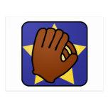 Estrella del oro del guante de béisbol de los depo tarjeta postal