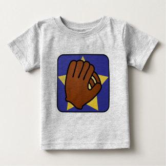 Estrella del oro del guante de béisbol de los tee shirt
