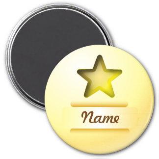 Estrella del oro del icono del imán