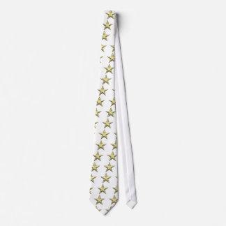 Estrella del oro estrellas de oro de 2 capas corbatas personalizadas