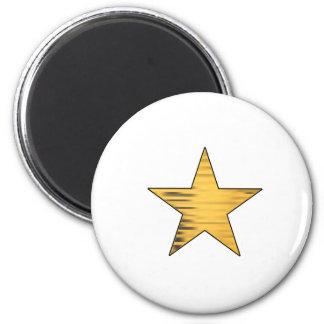 Estrella del oro imán redondo 5 cm
