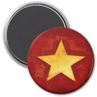 estrella del oro imán redondo 7 cm