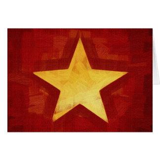 estrella del oro tarjeta de felicitación