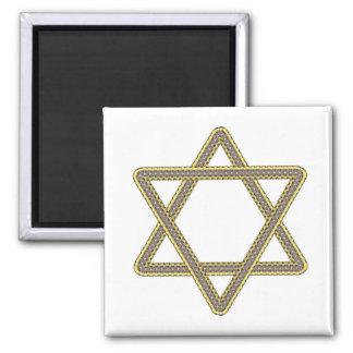 Estrella del oro y de la plata de David para el pa Imán