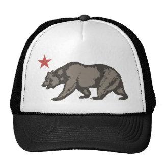 ESTRELLA del oso de California Gorro De Camionero