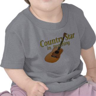 Estrella del país en el entrenamiento camisetas