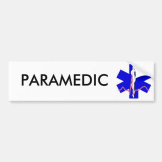 Estrella del paramédico de la pegatina para el par pegatina de parachoque