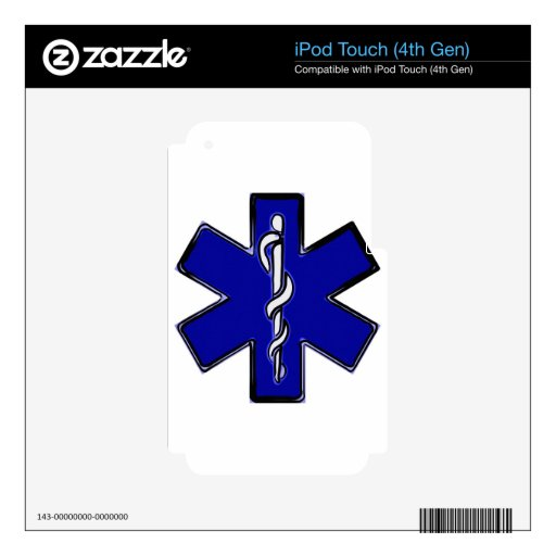 Estrella del paramédico de la vida skins para iPod touch 4G