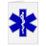 Estrella del paramédico de los regalos del emblema tarjetón