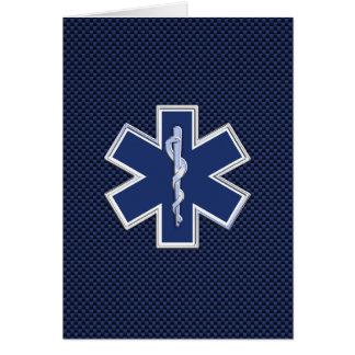 Estrella del paramédico el ccsme de la vida en tarjeta de felicitación
