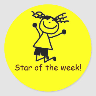 Estrella del pegatina de la semana