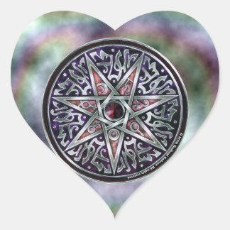 Estrella del pegatina vidente del corazón