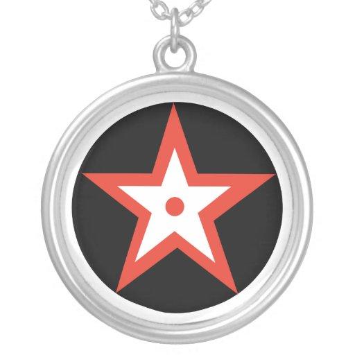 Estrella del Pentagram Colgante Redondo
