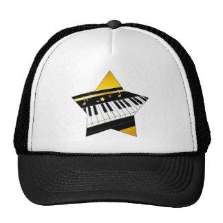 Estrella del piano gorras de camionero