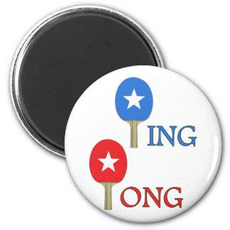 Estrella del ping-pong imán redondo 5 cm