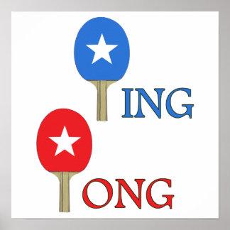 Estrella del ping-pong posters