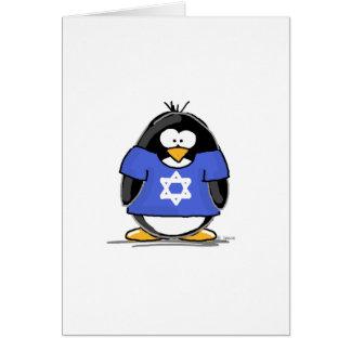 Estrella del pingüino de David Tarjeta De Felicitación