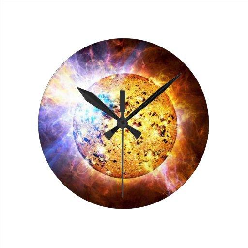 Estrella del Pipsqueak Reloj Redondo Mediano