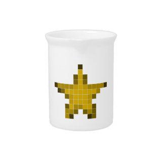 Estrella del pixel jarrones