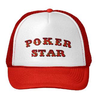 Estrella del póker gorro de camionero