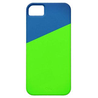Estrella del pop azul y verde del neón iPhone 5 funda
