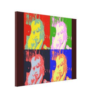 estrella del pop de los años 80 lona estirada galerías