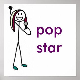 Estrella del pop impresiones