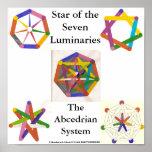 Estrella del poster de siete lumbreras