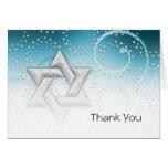 Estrella del reflejo del trullo de Mitzvah del pal Tarjeta