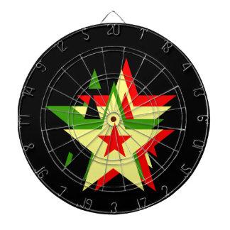Estrella del reggae tablero dardos
