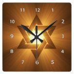 Estrella del reloj de pared de David