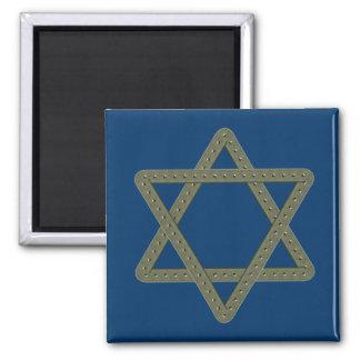 Estrella del remache de David para las celebracion Imán De Nevera