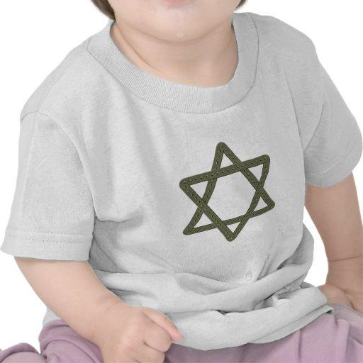 Estrella del remache de David para las celebracion Camisetas