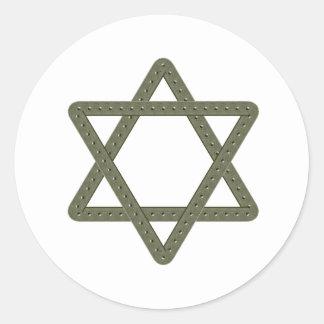 Estrella del remache de David para las Etiquetas Redondas