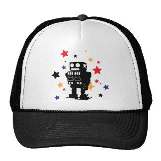 Estrella del robot gorros bordados