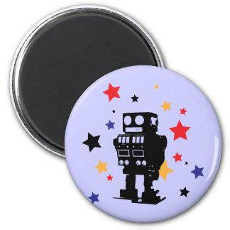 Estrella del robot imán redondo 5 cm