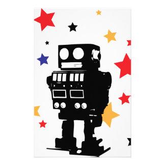 Estrella del robot papelería de diseño
